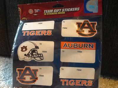 AUBURN TIGERS TEAM GIFT STICKERS
