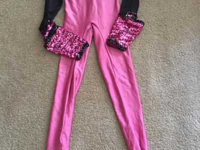 Pink and black dance wear Halloween costume