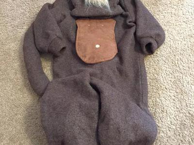 Homemade 1-2 year old child monkey Halloween costu