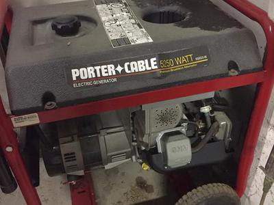 PORTER CABLE ELECTRIC GENERATOR 5250 WATT NEW