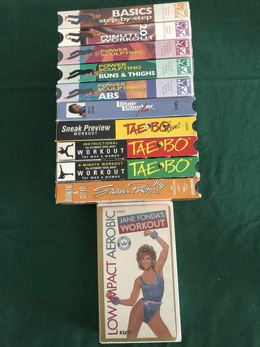 Miscellaneous workout VHS video cassette tapes for sale in Taylorsville , UT