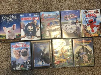Miscellaneous G rated DVD's $5.00 each