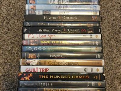 Miscellaneous PG-13 rated DVD movies $5.00 each