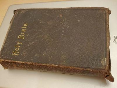 Antique book with eternal salvation info