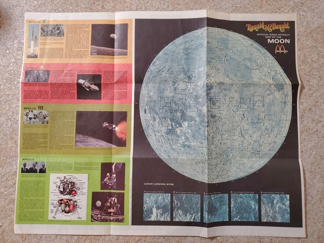 """Vintage Ronald McDonald Apollo Moon Landing """"Map of Outer Space"""" for sale in South Jordan , UT"""