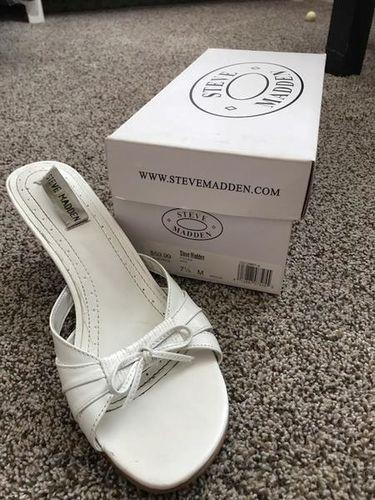 Steve Madden size 7.5 white formal heels for sale in West Jordan , UT