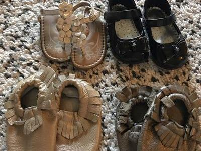 Size 4 Girls Shoes, Sandals, Moccasins