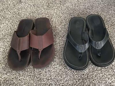 Eddie Bauer and Clark's Leather Sandals Size 7.5