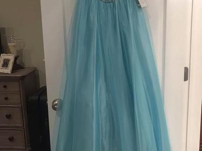 Elsa Frozen Disney Type Dress! 5/6 Blue  NEW!!