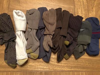 10 Pairs of men's dress socks