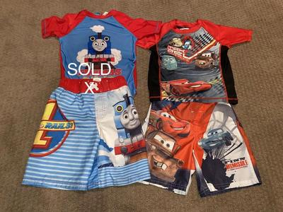 Boys Size 5T Cars Swimsuits Set