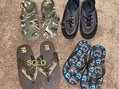 Boys Size 2 Sandals and Water Shoes