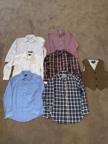 Boys Size 7 Dress Shirts and Vest Set for sale in Woods Cross , UT