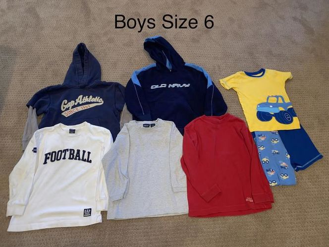 Boys Size 6 Long Sleeve Shirts and Pj set for sale in Woods Cross , UT