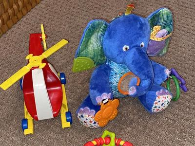 Baby Toys: Eric Carle Plush Elephant, Helicopter and rattle