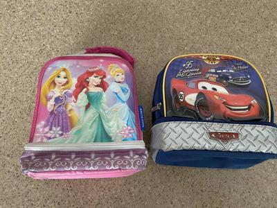 Kids Disney Lunchboxes Princess and Cars