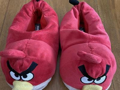 Boys Size 4/5 Angry Bird Slippers