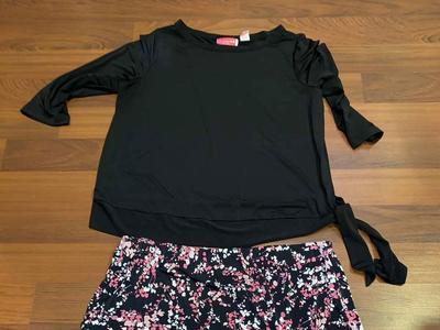 Women's Size XXL Maternity Skirt and Shirt Outfit