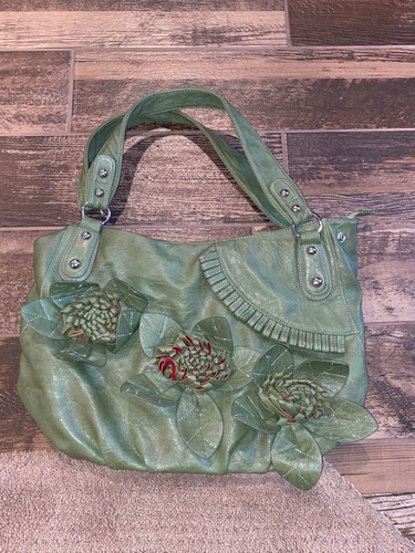 Big Green Purse with flowers for sale in Woods Cross , UT