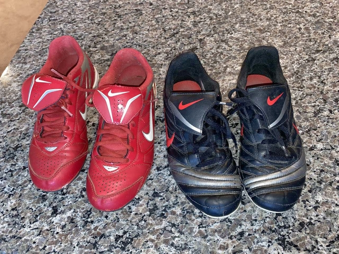 Boys Size 4.5 Nike Baseball and Soccer Cleats for sale in Woods Cross , UT
