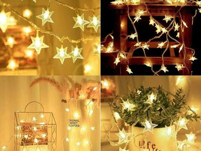 33FT 8 Modes Star Fairy Lights 100 LED Plug in String Lights for Indoor Outdoor