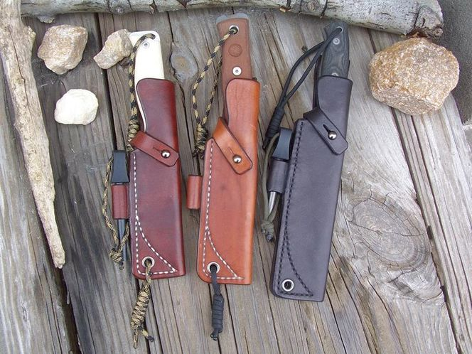LF Custom Leather Bushcraft Knife Sheaths for sale in Ogden , UT