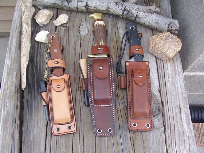 LF Custom Leather Survivor Knife Sheath for sale in Ogden , UT