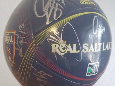 RSL Soccer Ball signed by entire team Real Salt