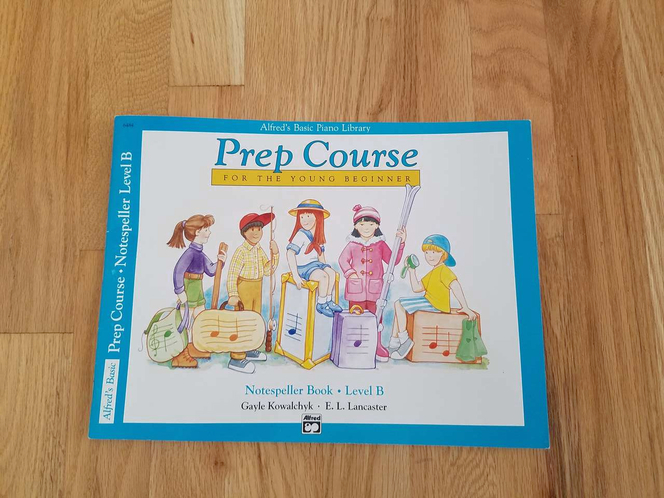 Alfred's Basic Piano Library Prep Course Notespeller Book Level B for sale in Kaysville , UT