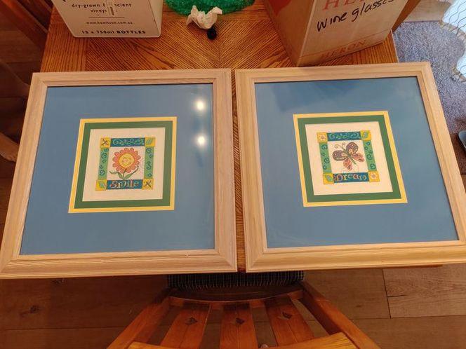 Framed cross-stitch att for sale in Salt Lake City , UT