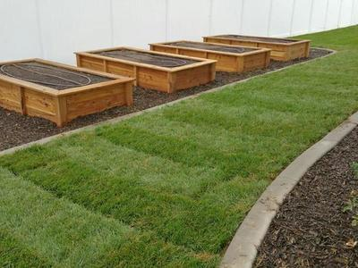 Raised Bed Cedar Garden Boxes, Grow planters