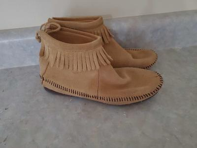 Leather moccasin booties size 5.5