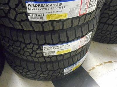 BRAND NEW SET OF LT265/70R17 FALKEN WILD PEAK A/T3