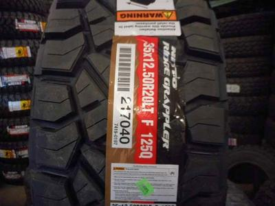 SET LT 35X12.50R20 NITTO RIDGE WRAPPLER /T LOAD RANGE E (12PLY) WITH FACTORY WARRANTY AWESOME DEAL