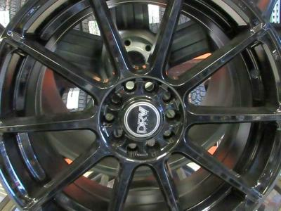 SET OF BRAND NEW  WHEELS DRV 17X8 GLOSS BLACK