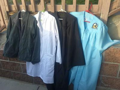 Graduation Gowns, North Face Jacket