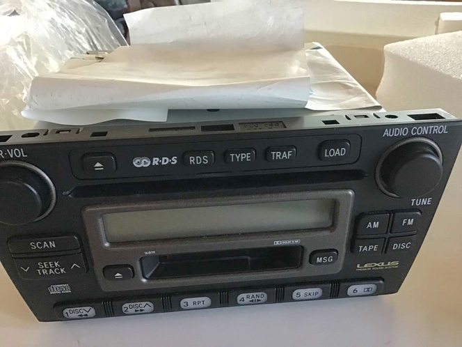 LEXUS 01-05 IS300 6 Disc CD Changer/Audio Radio/Cassette Player 86120-53060 [OEM Factory - Remanufactured] for sale in Bountiful , UT