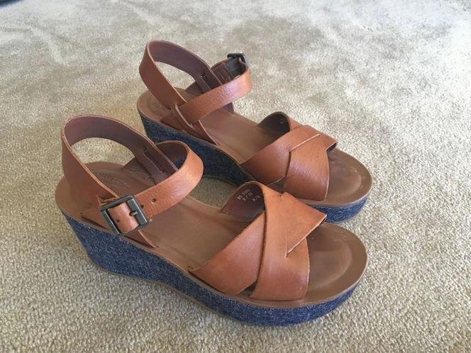 Kork-Ease Ava denim sandals size 8, EU 38 for sale in Millcreek , UT