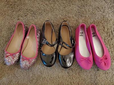 Like New! 3 Pairs of Girl Size 3 Shoes Flats