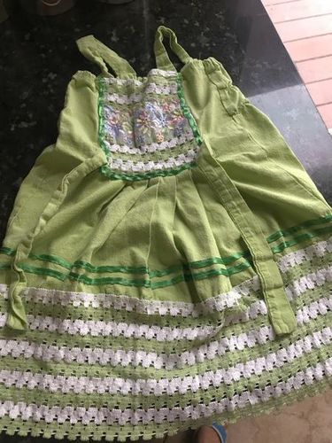 Green Hand Made Dress For 6 Mo Old Girl for sale in West Jordan , UT