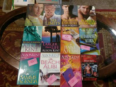 ALLISON KENT BOOK LOT OF 12