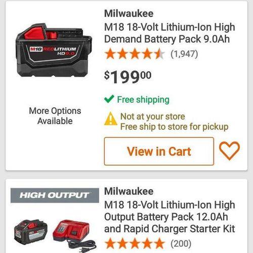 Milwaukee batteries 9.0 5.0 fuel impact drill grin for sale in West Jordan , UT