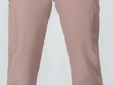 Brand new rosy brown polyester scrub pants large