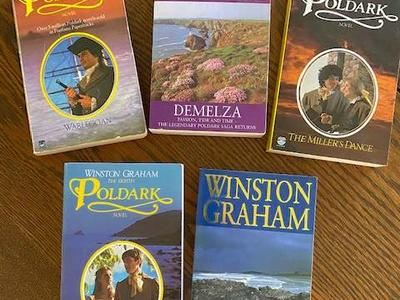 5 books in the POLDARK series by Winston Graham--four of them new
