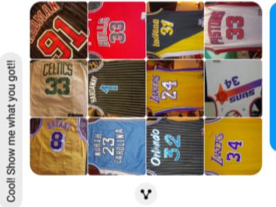 Assortment of classic X.L. NBA jersey's