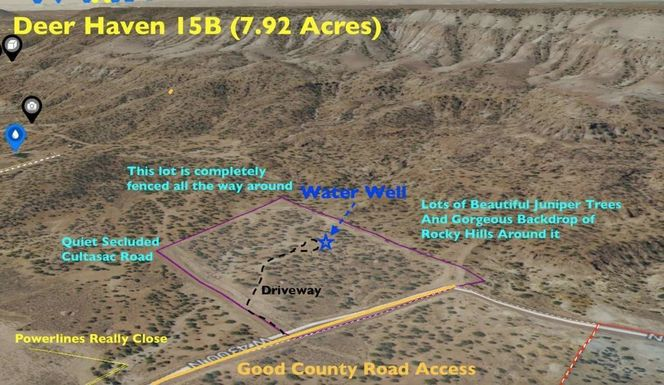 8 Acres w/ Water Well, Fully Fenced! County Road! Beautiful Area! for sale in Roosevelt , UT