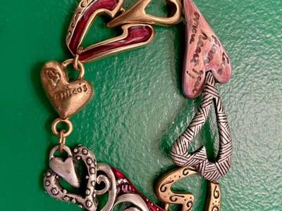 Ladies' Vintage Chico's Heart Fashion Bracelet