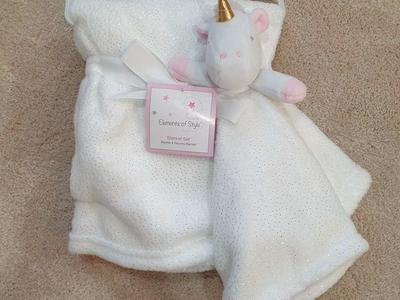 "Blanket set ""Elements of style"" unicorn"