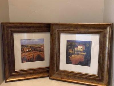 Set Of Two Beautiful Framed Pictures