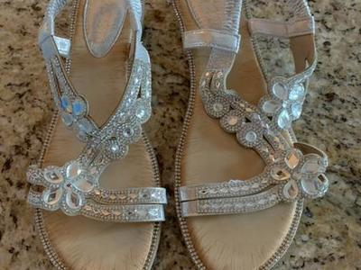 Sparkly Brand New Sandals Size 42